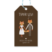 Whimsical Woodland Foxes Wedding Gift Tags