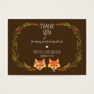 Whimsical Woodland Foxes Wedding Gift Tags / Cards
