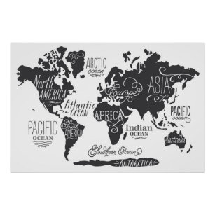 World map posters zazzle whimsical world map poster gumiabroncs Image collections
