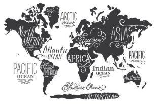 World map posters zazzle whimsical world map poster gumiabroncs Choice Image