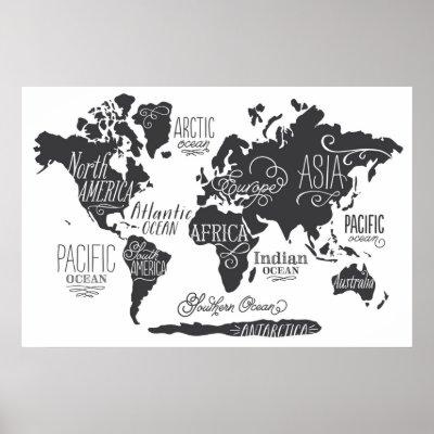 Black and white world map 1898 poster zazzle gumiabroncs Choice Image