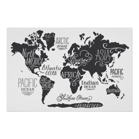 whimsical world map poster. Black Bedroom Furniture Sets. Home Design Ideas