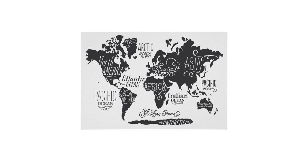 Whimsical world map poster zazzle gumiabroncs Images