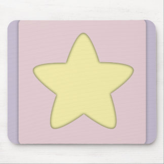 Whimsical Yellow Star Mouse Pad