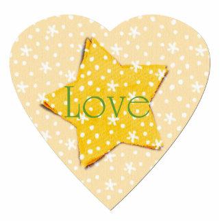 Whimsical Yellow Stars Love Statuette