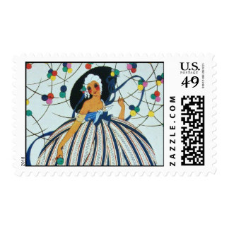 WHIMSICAL YOUNG GIRL / Beauty Fashion Stamps