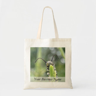 Whimsical Young Monarch Butterfly Caterpillar Tote Bag