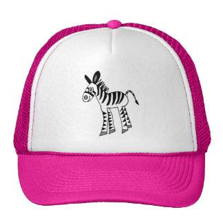 whimsical zebra foal hats