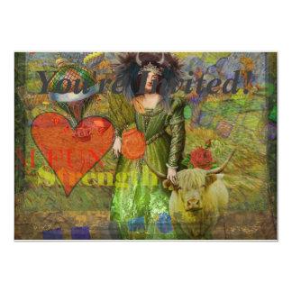 Whimsical Zodiac Taurus Fun Surreal Collage Woman Card