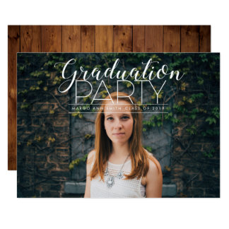 Whimsically Modern Graduation Party Invite