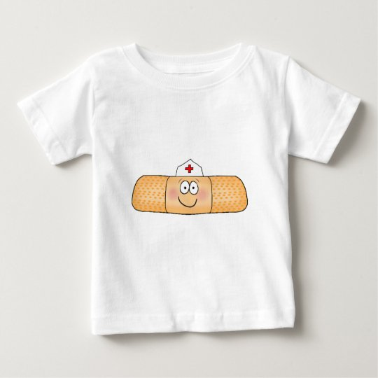 Whimsicla Band Aid Bandage with Nurse Hat Cute Baby T-Shirt