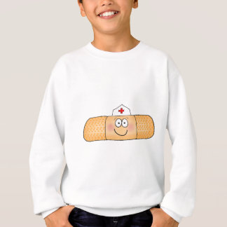 Whimsicla Band Aid Bandage with Nurse Hat Cute Sweatshirt