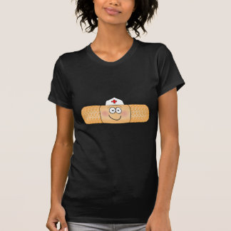 Whimsicla Band Aid Bandage with Nurse Hat Cute T-Shirt