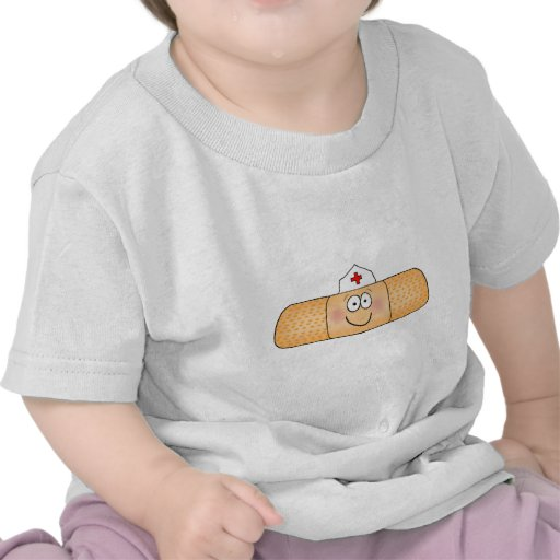 Whimsicla Band Aid Bandage with Nurse Hat Cute T Shirt