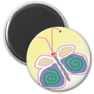 Whimsicle Butterfly.pdf 2 Inch Round Magnet