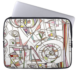 Whimsy-Abstract Art Geometric Computer Sleeve