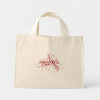 Whimsy Bag with Red Swirl