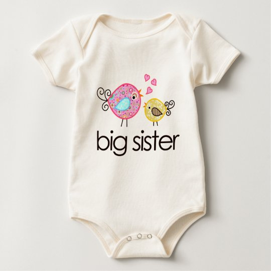 Whimsy Birds Big Sister T-shirt Announcement