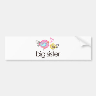 Whimsy Birds Big Sister T-shirt Announcement Bumper Stickers