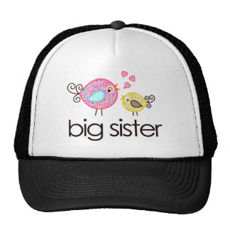 Whimsy Birds Big Sister T-shirt Announcement Trucker Hat