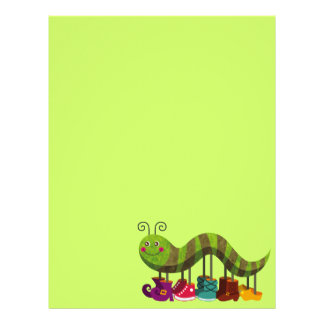 whimsy caterpillar personalized letterhead