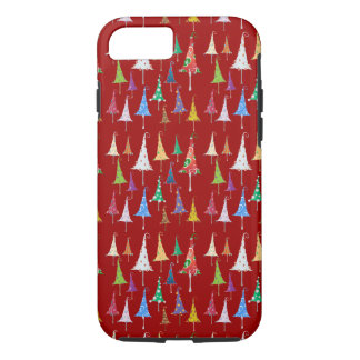 Whimsy Christmas Trees iPhone 7 Case