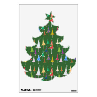 Whimsy Christmas Trees Wall Decal