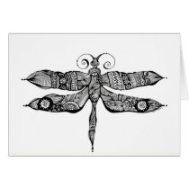 artsprojekt, whimsy, dragonfly, libelula, insect, tatoo, drawing, black, whimsey, teen, ink, body, white, young, Card with custom graphic design