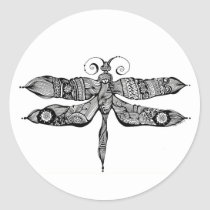 artsprojekt, whimsy, dragonfly, libelula, insect, tatoo, drawing, black, whimsey, teen, ink, body, white, young, Sticker with custom graphic design