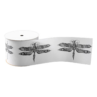 Whimsy Dragonfly Grosgrain Ribbon