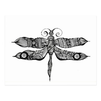 Whimsy Dragonfly Postcard