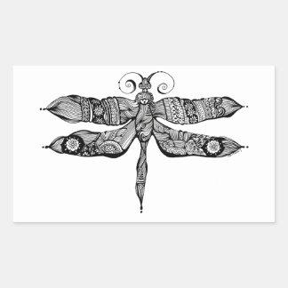 Whimsy Dragonfly Rectangular Sticker