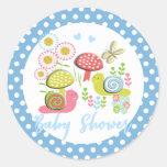 Whimsy Fairy-tale Garden Baby Shower Classic Round Sticker