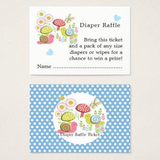Whimsy Fairy-tale Garden Baby Shower Diaper Raffle Business Card