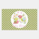 Whimsy Fairy-tale Garden Baby Shower Rectangular Sticker