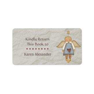 Whimsy Faith Angel Book Return label