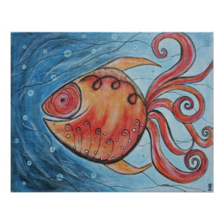 Whimsy Fish II Poster