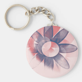 Whimsy Floral Art Keychain