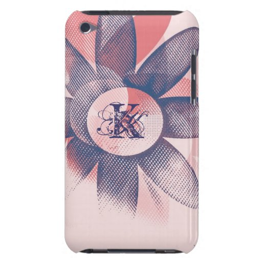 Whimsy Floral Art Mongram iPod Touch Cases