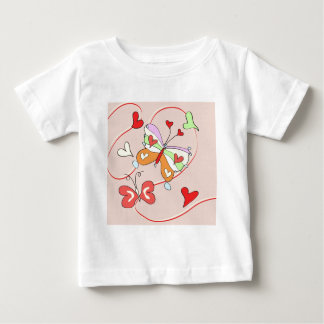 Whimsy Flower Butterflies Baby T-Shirt