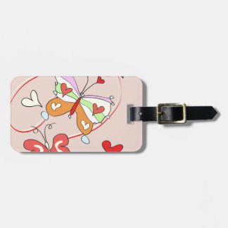 Whimsy Flower Butterflies Travel Bag Tags