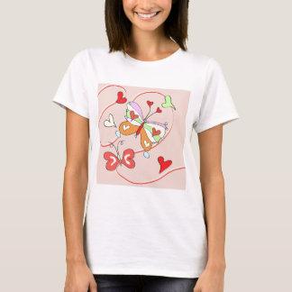 Whimsy Flower Butterflies T-Shirt