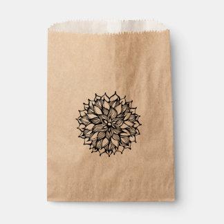 Whimsy Flower Doodle Art Favor Bag