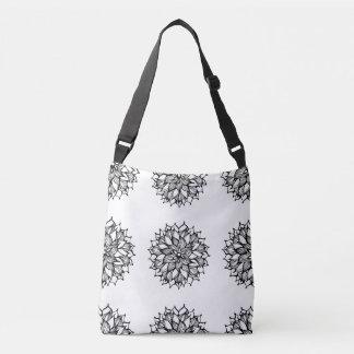 Whimsy Flowers Bouquet Doodle ArT Crossbody Bag