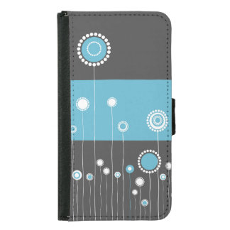 Whimsy Flowers Samsung Galaxy S5 Wallet Case