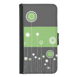 Whimsy Flowers Wallet Phone Case For Samsung Galaxy S5