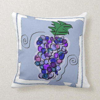 Whimsy Grapes Throw Pillow
