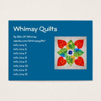 Whimsy Hearts Quilt - Block #1 Business Card