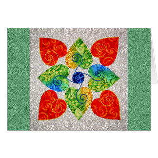 Whimsy Hearts Quilt - Block #1 Card