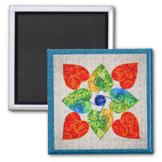 Whimsy Hearts Quilt - Block #1 Magnet